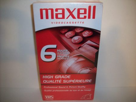 Maxell VHS 6 Hour Blank Videotape (SEALED)